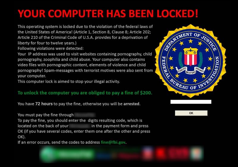 Your computer has been locked