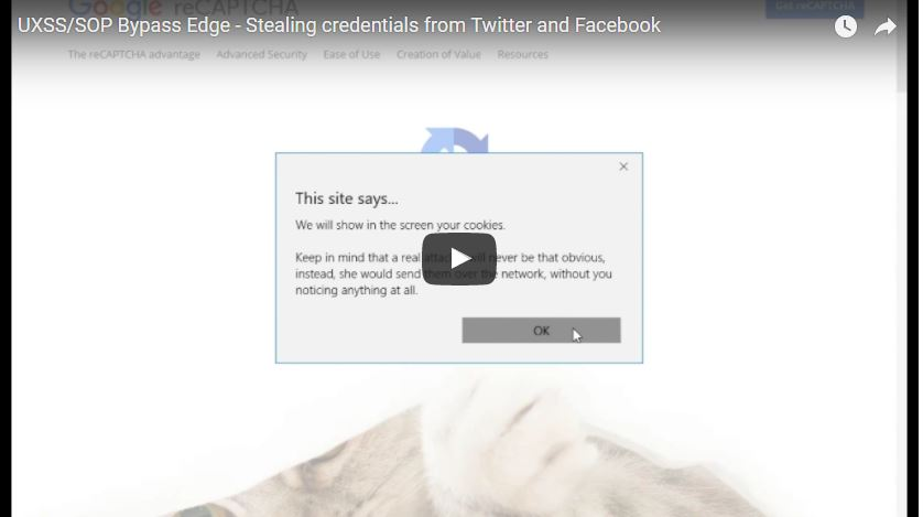 stealing credentials from Facebook and Twitter