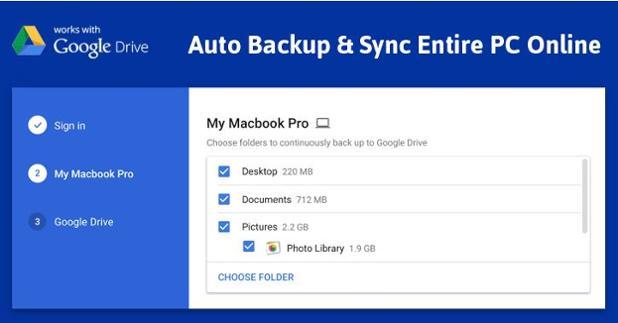 Google new auto backup tool